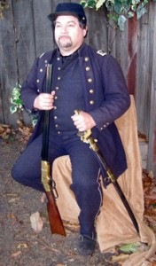 man in a Civil War paymaster uniform