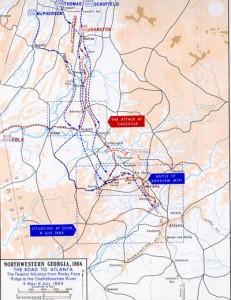 Atlanta Campaign Map