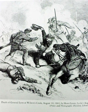sketch of a Civil War battle