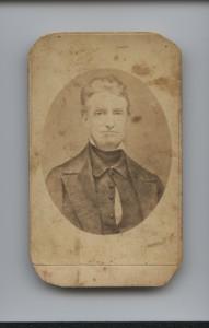 antique photo calling card