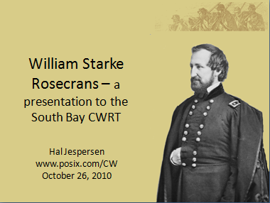 Title slide of Hal's PowerPoint presentation