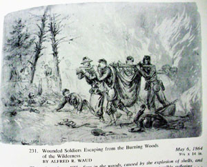 sketch of wounded Civil War soldiers