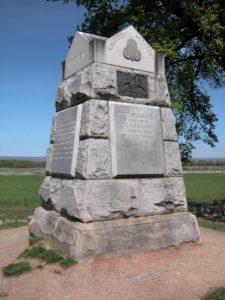 California Regiments monument at Gettysburg